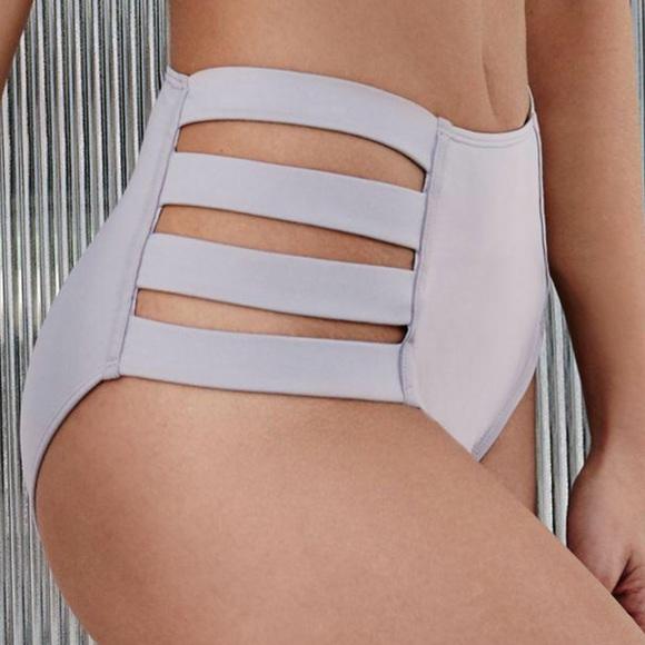 Smokey Gray High Waisted Bikini Bottoms a6453509bce5